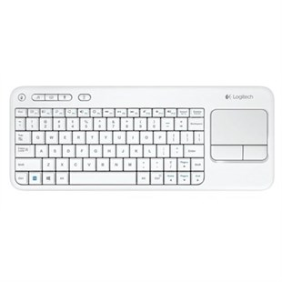 Logitech Klavye Wireless Touch K400 TR Beyaz